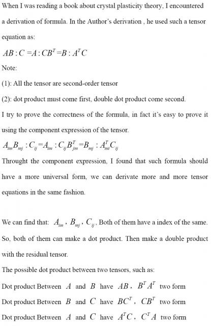 A property of second-order tensor (Part 1)