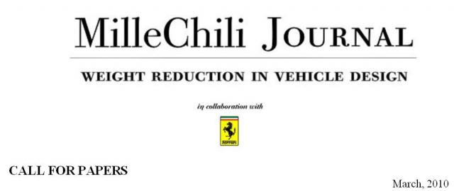 ferrari millechili call for papers